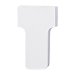 Schede a T Nobo Dimensione 1 bianco 2,8 x 4,5 cm 100 unità
