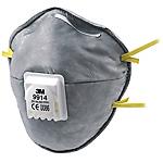 Mascherina antipolvere 3M 9914 Tessuto universal grigio 10 unità
