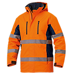 Giaccone SiGGi WORKWEAR Long Season poliestere 100% spalmato poliuretano taglia m arancione