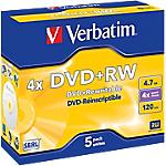 DVD+RW Verbatim 4.7 gb 5 unità