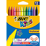 Pastelli colorati BIC Kids Plastidecor assortiti 12 pezzi