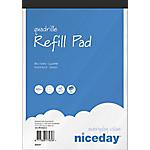 Blocco per appunti Niceday Refill Pad Bianco, azzurro A quadretti A5+ 22,5 x 14,8 cm 60 g