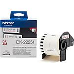 Rotolo di etichette a lunghezza continua Brother DK 22251 62 mm x 15,24 m nero, rosso, bianco
