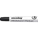 Marcatore per lavagne bianche Niceday WCM1 5 a scalpello 5 mm nero
