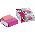 Dispenser + blochetto Post it Z Note Pro Fucsia non perforato 76 x 76 mm 90 fogli