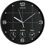 Unilux orologio da parete On time 30,5 cm nero