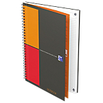 Blocco spiralato OXFORD International Notebook Connect A4+ a quadretti 80 fogli.
