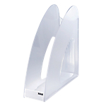 Portariviste HAN TWIN trasparente A4+ polistirolo 7,6 (l) x 23,9 (p) x 25,7 (h) cm