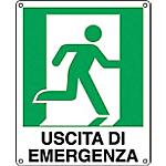 Cartelli Segnalatori Uscita di emergenza a destra 31 x 25 cm