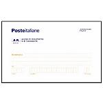 Cartoline di ritorno raccomandate A. R. Bianco microperforazione 20 x 10 cm 100 fogli