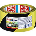 Nastro tesapack Segnaletico 50 mm x 66 m nero, giallo