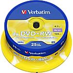 DVD+RW Verbatim 4.7 gb 25 unità