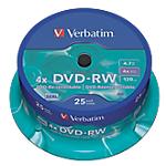 DVD RW Verbatim 4.7 gb 25 unità