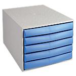Cassettiera Office Depot grigio, blu 28,4 x 38,7 x 21,8 cm
