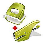 Kit Cucitrice + Perforatrice Leitz 15 fogli verde