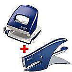 Kit Cucitrice + Perforatrice Leitz 15 fogli blu