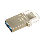 Pen Drive Verbatim Store 'n' Go OTG Micro 64GB argento plastica, metallo 5,4 (h) x 14,9 (l) mm
