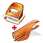 Kit Cucitrice + Perforatrice Leitz 15 fogli arancione