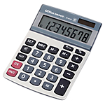Calcolatrice da tavolo Office Depot AT 812E a batterie, solare argento