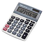 Calcolatrice da tavolo Office Depot AT 812T a batteria, solare argento