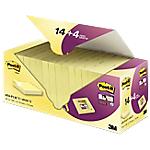 Foglietti Post it 76 x 76 mm giallo 18 unità da 90 fogli