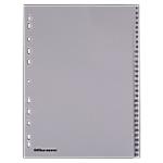 Divisore Office Depot polipropilene 120 mikron Grigio 31 tasti da 1 a 31 11 fori 31 unità