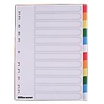 Divisore Office Depot pp 120 micron Bianco 12 tasti neutri 11 fori
