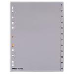 Divisore Office Depot polipropilene 120 mikron Grigio 12 tasti da 1 a 12 11 fori 12 unità