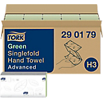 Carta asciugamani Tork Advanced 2 strati piegato a v verde 15 unità da 250 strappi