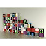 Libreria 6 caselle scalare Noce 1.041 x 292 x 1.039 mm
