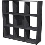 Libreria 9 caselle Nero 1.040 x 290 x 1.040 mm