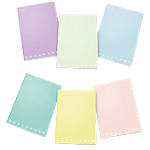 Quaderni Pigna Monocromo pastel Assortiti 4M a quadretti A4 21 x 29,7 cm 80 g
