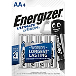 Pile al litio Energizer Ultimate AA 4 unità