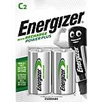 Pile ricaricabili Energizer Power Plus C 2 unità