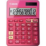 Calcolatrice da tavolo Canon LS123K a batteria, solare rosa