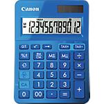 Calcolatrice da tavolo Canon LS123K a batteria, solare blu