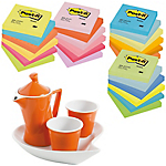 Notes + Tazzine da caffè Post it 76 x 76 mm Assortiti