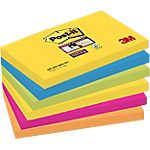 Notes Post it 76 x 127 mm assortiti 6 unità da 90 fogli
