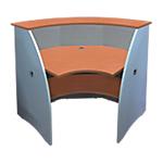 Modulo angolare Reception grigio 976 x 976 x 1.070 mm
