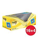 Foglietti riposizionabili Post it 76 x 76 mm giallo canary 20 unità da 100 fogli
