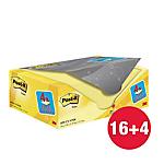 Foglietti riposizionabili Post it 127 x 76 mm giallo canary 20 unità da 100 fogli