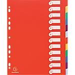 Intercalari con pagine stampate Exacompta 4812E A4+ assortiti 12 tasti perforato polipropilene rigido