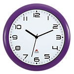 Orologio da parete al quarzo Alba 30 x 5,5 cm viola bianco