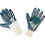 Guanti di protezione NBR taglia 10 bianco blu