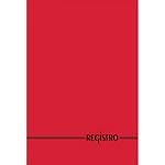 Registro Rosso A righe A4 29,7 x 21 cm 100 fogli