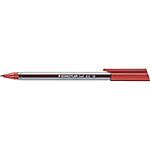 Penna a sfera con fusto triangolare STAEDTLER Ball 432 rosso