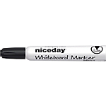 Marcatori per lavagne bianche Niceday WBM2.5 a punta tonda 2.5 mm nero