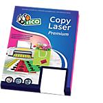Etichette adesive fluorescenti Tico Copy Laser Premium rosso A4 3,6 x 7 cm 70 fogli da 1 etichette