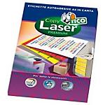 Etichette adesive fluorescenti Tico Copy Laser Premium giallo A4 3,6 x 7 cm 24 fogli da 1 etichette