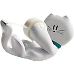 Dispenser tendinastro a forma di gatto e Nastro Adesivo Scotch C39 bianco 6,6 x 8,4 cm